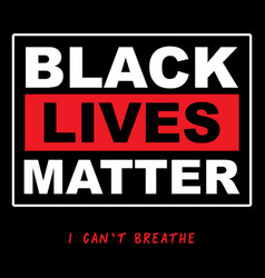 Black lives matter typographyprotest banner about vector