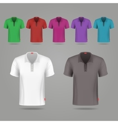 Black white and color male t-shirts design vector