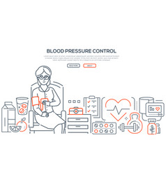 blood pressure control - modern line design style vector image