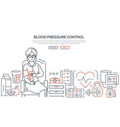 Blood pressure control - modern line design style vector