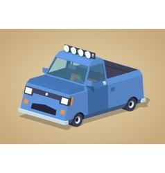 Blue pickup truck vector