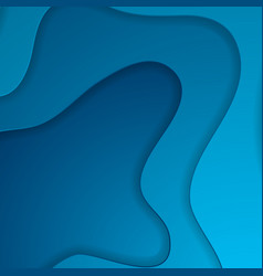 bright blue corporate waves abstract background vector image