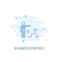 business strategy line concept simple line icon vector image