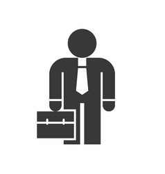 Businessman or investor carry briefcase business vector