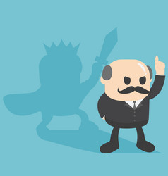 businessmen show a confident gesture by pointing vector image