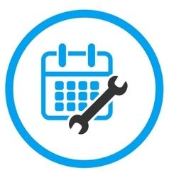 Calendar Configure Rounded Icon vector