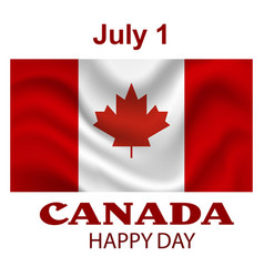 Canada flag background happy canada day poster vector