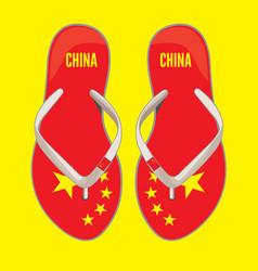 china flip flop sandals vector image