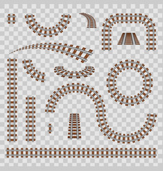 Creative curved railroad vector