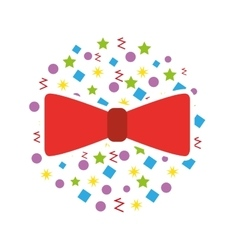 Cute bow party icon vector