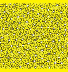 daisy seamless pattern floral background vector image