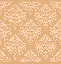 damask tiled classic wallpaper seamless pattern vector image