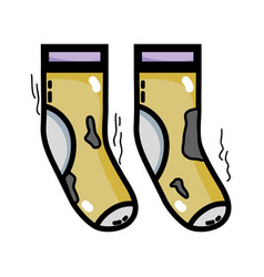 Dirty socks style design icon vector