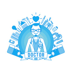 doctor professional poster vector image