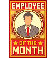 Employee of the month design vector image