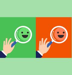 Feedback concept design with emoticons vector