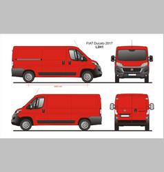 Fiat ducato cargo delivery van 2017 l2h1 vector