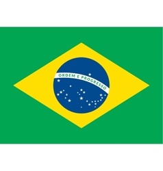 Flat green soccer field brazil flag vector