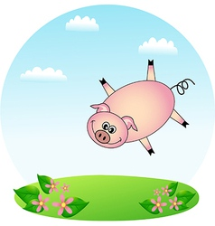 Flying Pig vector image