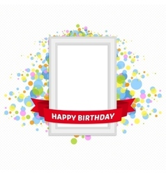 frame birthday vector image
