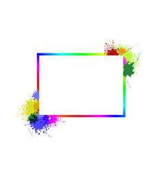 Frame on splash vector