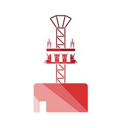 Free-fall ride icon vector