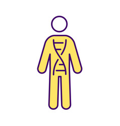 genetic inheritance rgb color icon vector image