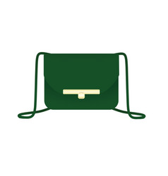 Green hand bag vector