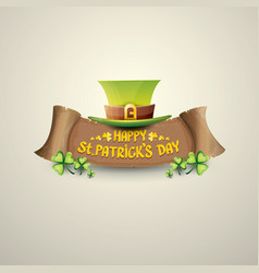 Happy saint patricks day label vector