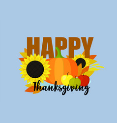 happy thanksgiving concept background flat style vector image