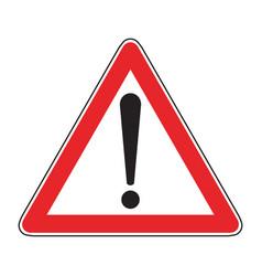 hazard warning traffic sign vector image