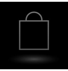 Icon shopping bag vector