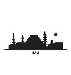 Indonesia bali city skyline isolated vector