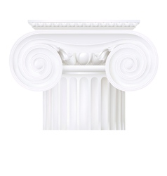 ionic capital vector image