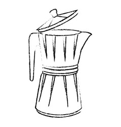 kettle kitchenware utensil vector image