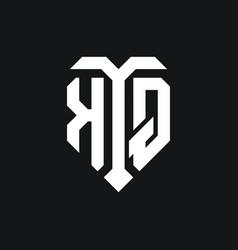 Kq logo monogram design template vector