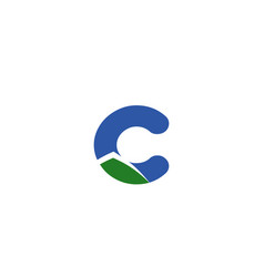 letter c logo creative concept icon vector image