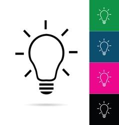 Lightbulb icon set vector