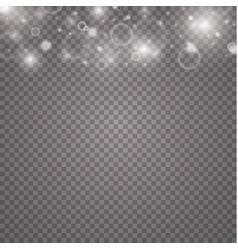 lights on transparent background magic concept vector image