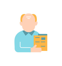 Male adult flat color icon vector