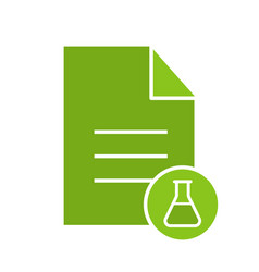 Medical test results glyph color icon vector