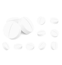 Medicine round white cure pills aspirin vector