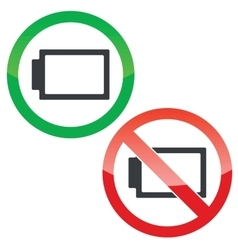 No energy permission signs set vector