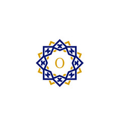 o initial letter logo with luxury ornament vector image