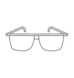 outline glasses accessory fashion trendy icon vector image