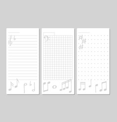 page for notes with musical elements vector image