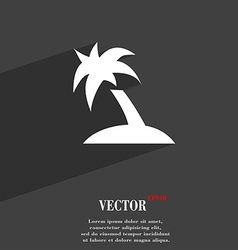 Palm tree travel trip icon symbol flat modern web vector