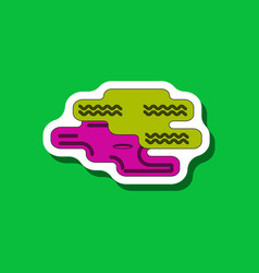 Paper sticker on stylish background golf hole vector