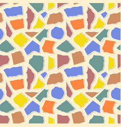 pattern with pieceis paper vector image