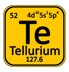 Periodic table element tellurium icon vector